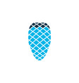 pine cone icon colored symbol premium quality vector image