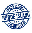 rhode island blue round grunge stamp vector image vector image
