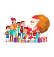santa claus with children happy children vector image vector image