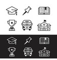 school icon vector image