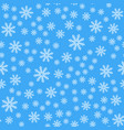 seamless pattern white snowflakes on a blue vector image vector image