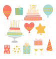 set birthday images vector image vector image