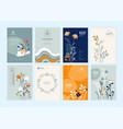 set brochure designs vector image vector image