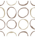 sketchy circles seamless pattern vector image