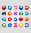 social media set 20 icons image vector image