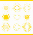 sun set hand drawn vector image vector image