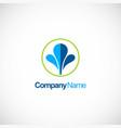 water splash business logo vector image vector image
