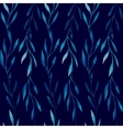 Watercolor seamless pattern of blue leaves on a vector image