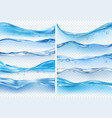 wave realistic splashes liquid water surface with vector image vector image
