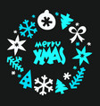 winter season greeting card template merry xmas vector image