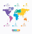 World Infographic Template jigsaw concept vector image vector image