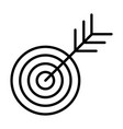 target line icon successful shoot goal sign vector image