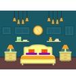 bedroom cozy interior vector image