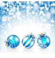 Christmas blue bals vector image
