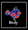 symbol birdy on a black background vector image