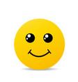 yellow happy smile vector image