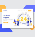 24 hours live support vector image
