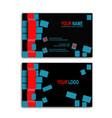 3d cube business card vector image vector image