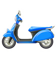 A blue scooter vector image vector image