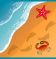 at the beach theme summer vacation vector image