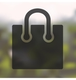 bag icon on blurred background vector image vector image