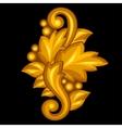 baroque ornamental antique gold element on black
