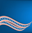 blue background undulating ribbons the colors vector image