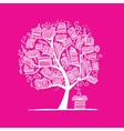 Book tree sketch for your design vector image vector image