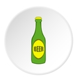 Bottle of beer icon cartoon style vector image vector image
