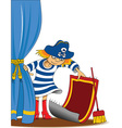 Cartoon pirate design vector image vector image