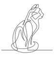 cat continuous line cartoon vector image