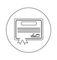certificate icon design vector image vector image