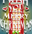 christmas greeting card with english red cabin vector image vector image