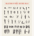 collection people sketches hand drawn vector image vector image