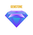 Colorful gem isolated on white background vector image vector image