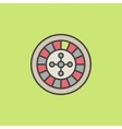 Colorful roulette wheel icon vector image vector image