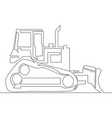 continuous line drawing bulldozer vector image
