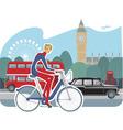 cycling girl vector image vector image