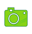 digital camera sign lemon scribble icon vector image vector image