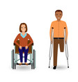 disability people concept invalid woman in vector image vector image