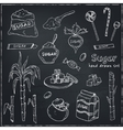 Doodle Set of sugar products vector image vector image