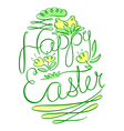 Easter lettering composition vector image vector image