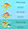 Eco energy horizontal banner set with low-energy vector image vector image