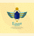 egyptian bug-beetle with wings symbolism of vector image vector image