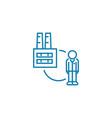 employee of an enterprise linear icon concept vector image vector image