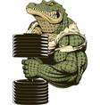 ferocious strong crocodile vector image vector image
