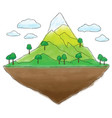 floating island mountain doodle vector image vector image