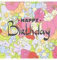 Floral postcard vector image vector image