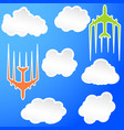 flying airplane airliner jet transport icon vector image