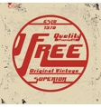 Free vintage stamp vector image vector image